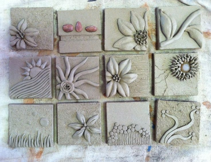 relief clay tiles art projects keramik pinterest