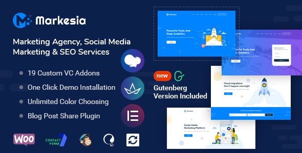 Buy Markesia Digital Marketing Agency And Seo Wordpress Theme By