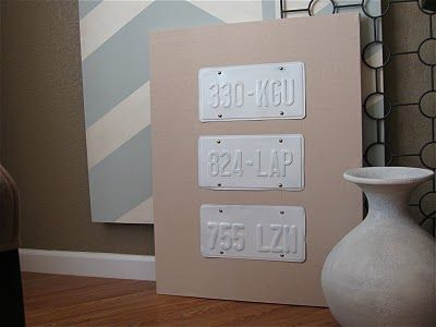license plate wall art