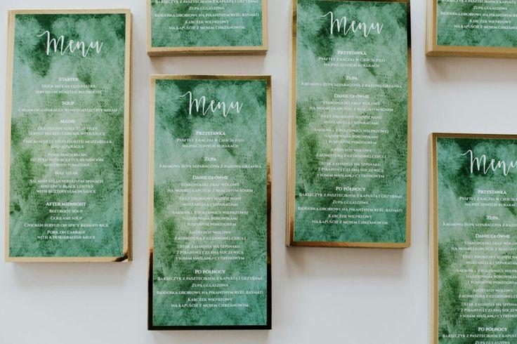 Emerald wedding menu #greenmenu#modernmenu#weddingideas#weddinginspiration#classywedding#modernbride
