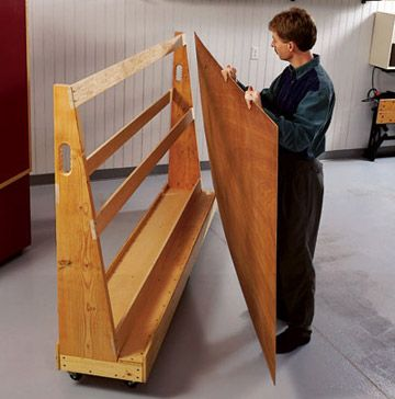 http://www.woodmagazine.com/woodworking-plans/shop-organization/roll-around-plywood-sheet-cart/