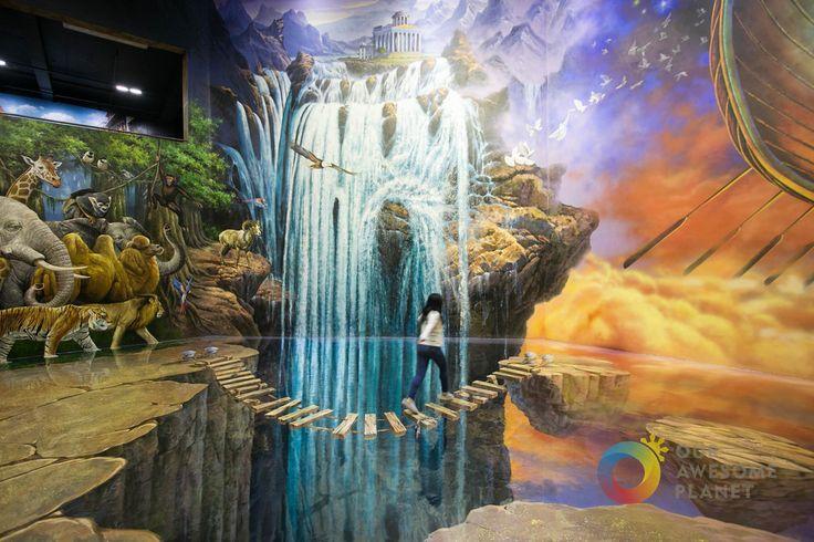 """Art in Island,(3D Art Museum,Cubao, Quezon City, Philippines), """"Hanging Broken Bridge""""by Anton Diaz"""