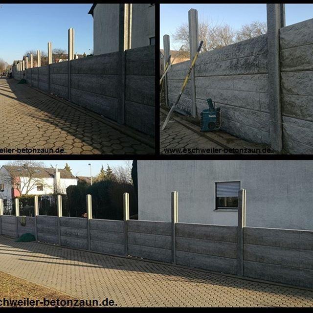 Simple  betonzaun kowalewski sichtschutz Schallschutz garten design landschaftsbau zaun