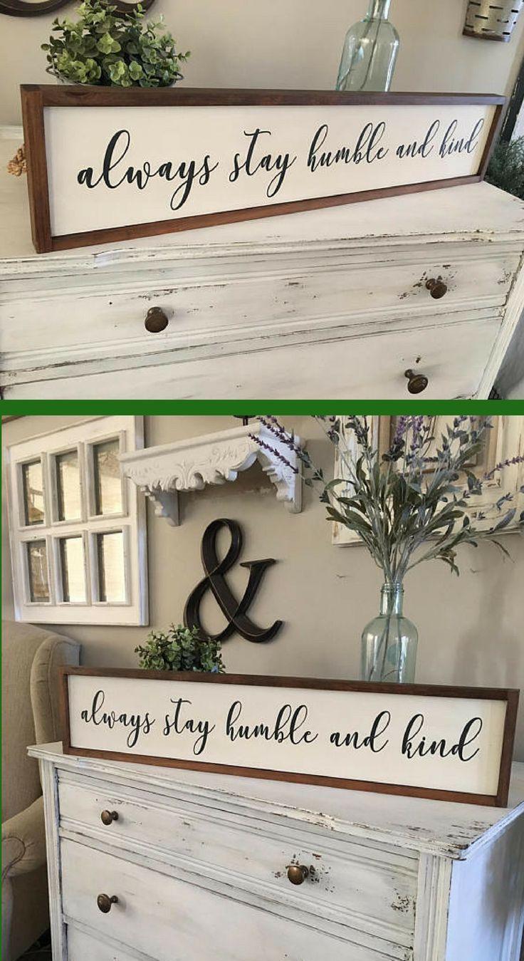 Always Stay Humble and Kind Sign, Framed Sign, Always Stay Humble and Kind Wood Sign, Song Lyric Sign, afflink