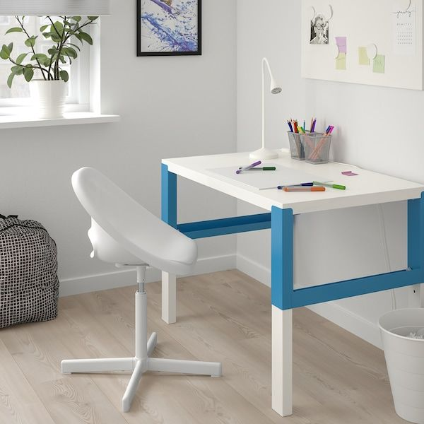 Loberget Sibben Child S Desk Chair White Ikea In 2020 Kids Desk Chair Childrens Desk Ikea Kids Desk