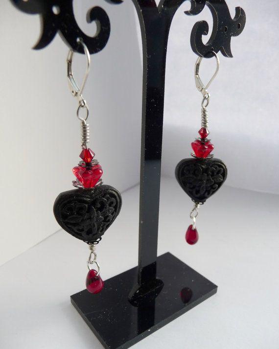 My Bloody Valentine Earrings. Victorian Vampire by DarkmoonFayre, £18.00