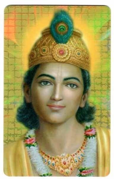 Bhagavan Krishna with Garland Wallet Card