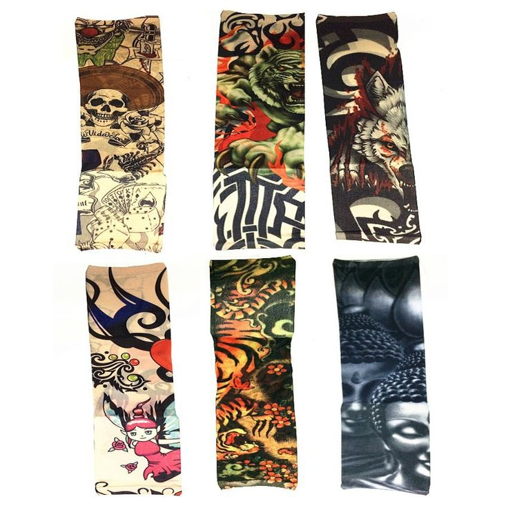 Temporary Tattoo Sleeves Made of Nylon - 4 Pieces //Price: $9.95 & FREE Shipping //     }