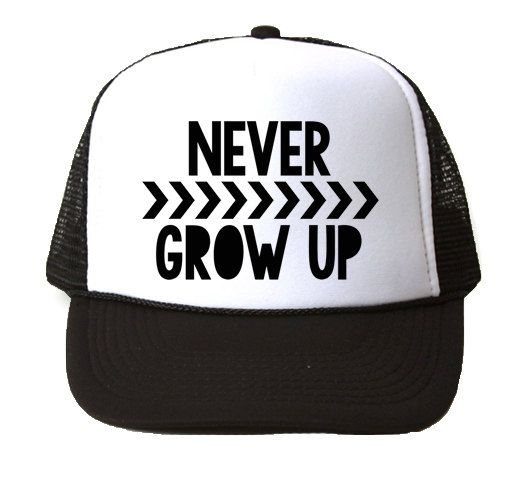 Boys Trucker Hat   Never Grow Up  Toddler Hat Trucker Hat