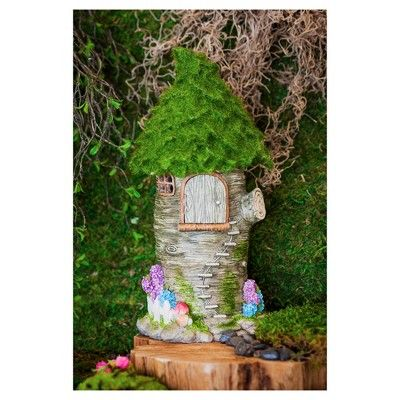 11.75 Winding Stairs Fairy Treehouse - Multi Color - Evergreen Enterprises,