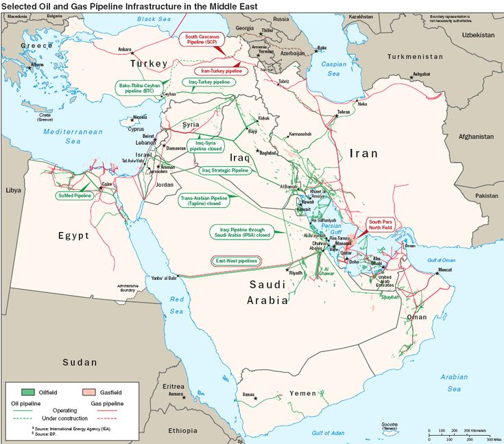 Oil and gas pipelines in the Middle-East