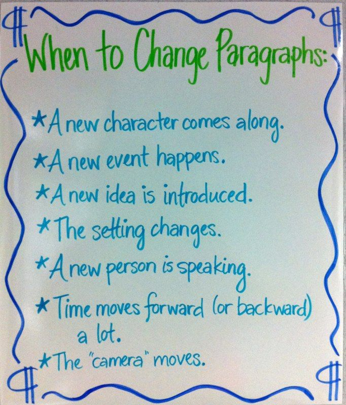 When to start a new paragraph