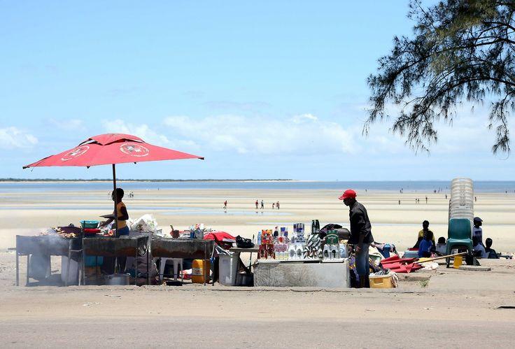 Beach grill Costa do Sol beach. Frango con piri-piri is wat they sell. Maputo, Mozambique 2014.