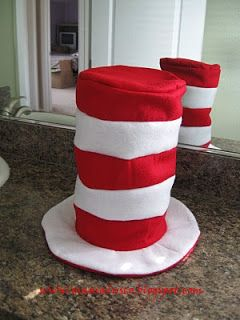 Mama Lusco Handmade: Dr. Seuss Day ~ Cat in the Hat Tutorial