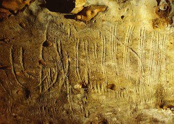 Un des mammouths les plus complets de la Grotte de Rouffignac. Les Eyzies. Dordogne