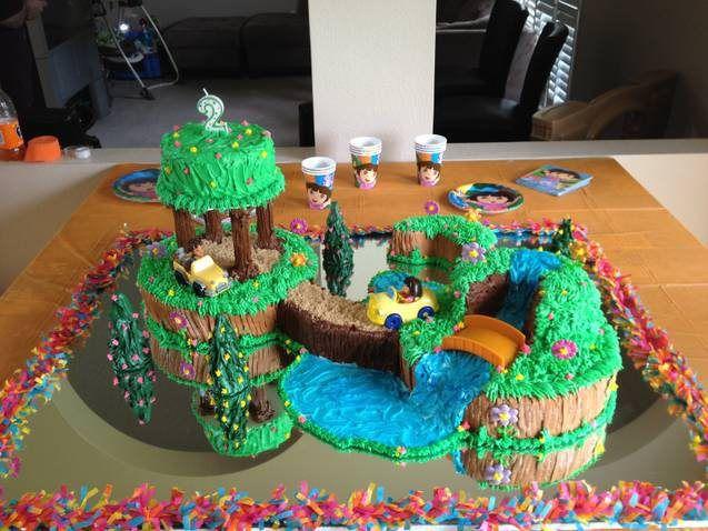 Dora The Explorer birthday cake.