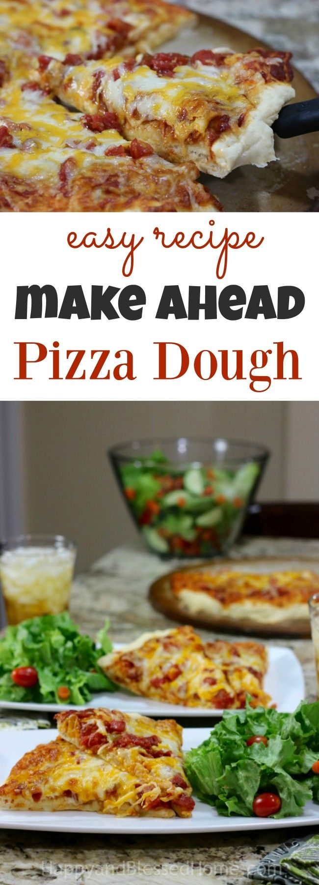 Party coming up ? Make this easy recipe for make ahead pizza dough! This recipe is so versatile. You can make calzones, stuffed pockets, soft pretzels, and breadsticks with this. I love how she puts it in the fridge a day or so before a party. I can just see this twisted like a breadstick and dipped in marinara! YUM!