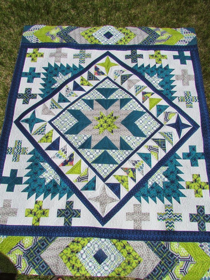 422 best Round Robin Quilt Ideas images on Pinterest | Jellyroll ... : pinterest quilt borders - Adamdwight.com