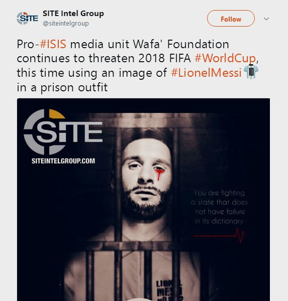 ISIS Threatens Russia 2018 World Cup Using Shocking Image Of Messi Crying Blood