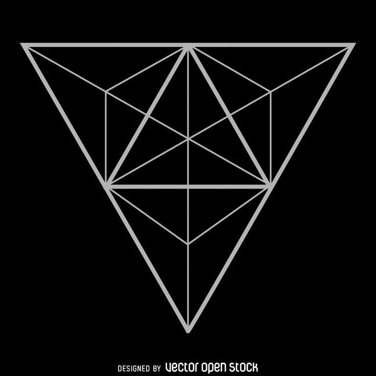 Sacred geometry design made from a big triangle with other triangles, lines and…