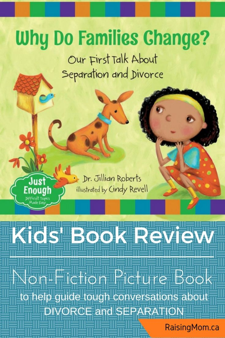 This book is a wonderful resource to help parents and caregivers approach the difficult subjects of separation and divorce (and their impact on the entire family) with young children in a gentle and accessible manner. Children typically blame themselves or are unsure of their place in the family when family troubles arise, and this book helps reassure them that separation/divorce are not their fault. Reassurance is provided that parents will not stop loving the child(ren...