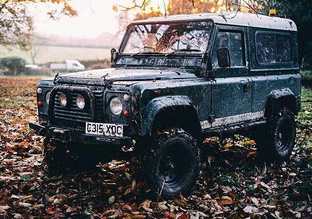 Land rover Defender 90 On nice background. Perfect.