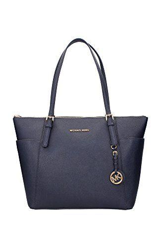 30F4GTTT9LADMIRAL-Michael-Kors-Shopper-Taschen-Damen-Leder-Blau