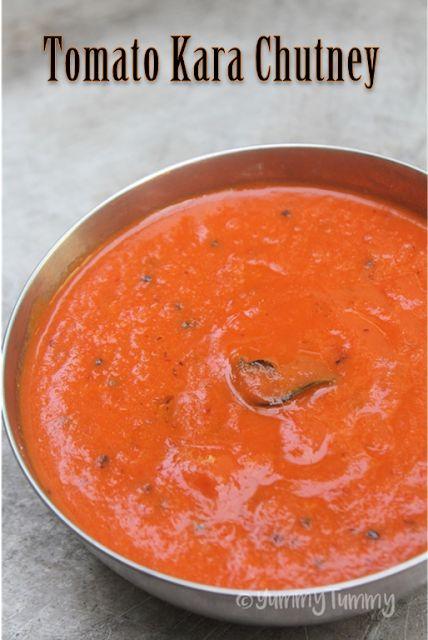 Tomato Kara Chutney Recipe - Thakkali Kara Chutney Recipe - Yummy Tummy
