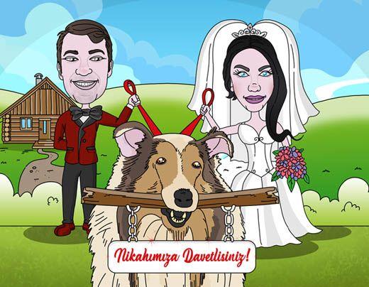 #ozelcizim #karikatur #resim #sanat #dugun #evlilik #hediye #davetiye #dugundavetiyesi #davetiyeler #resim #gelin #damat