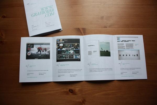 CV / Book / Poster 2009 by GrafikWar (dot) com , via Behance