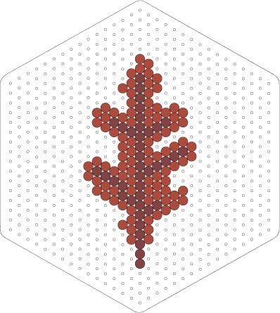Autumn leaf perler bead pattern
