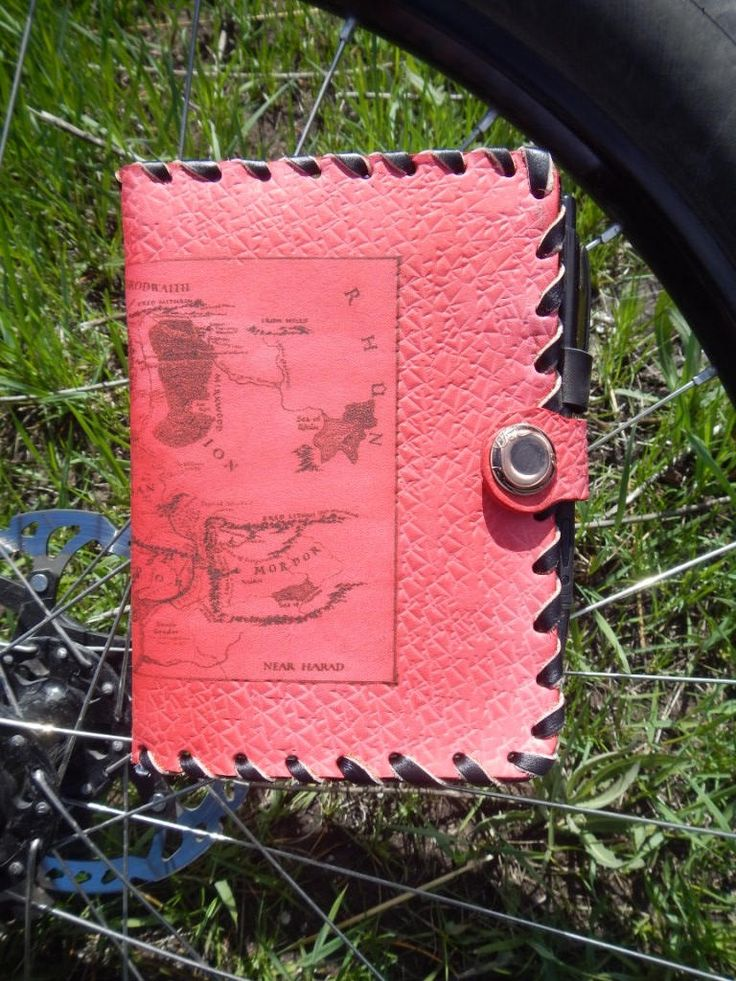 Engraved handmade leather notebook Map, Кожаный блокнот с гравировкой Карта Средиземья by RozaBracelets on Etsy