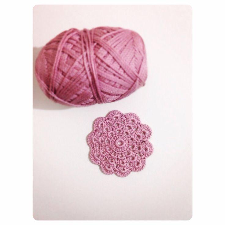 Gülkurusu Bardak Altlığı #Crochet