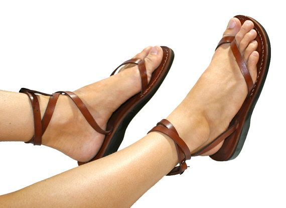 Brown ankle strap leather sandals – Sandali