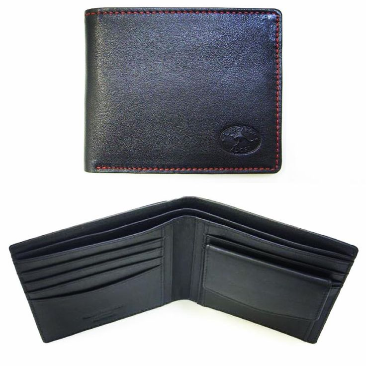 Another lovely kangaroo leather wallet: with all the wonderful qualities of this soft, light and yet so durable leather. Finished with contrast and colour stitching, this truly is elegance meets style.