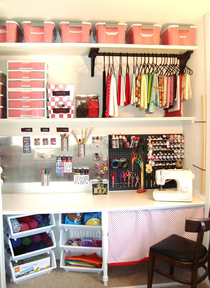 25 best ideas about small sewing rooms on pinterest small sewing space tiny sewing room and - Organization small spaces plan ...