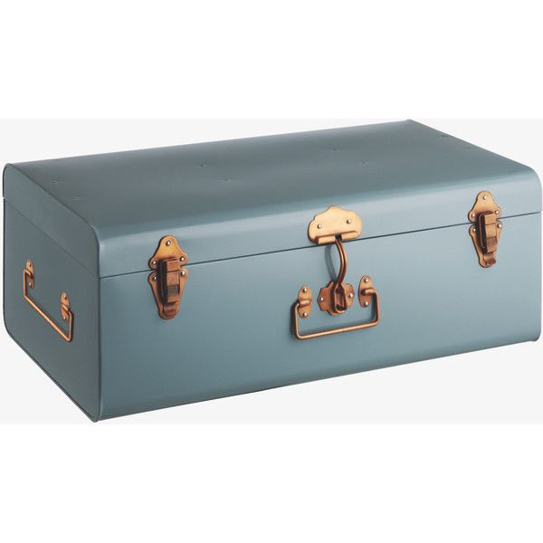 A Durable, Stylish Storage Solution For The Home, The Trunk Large Blue Metal  Storage Box Is Generously Sized To Keep Your Items Safe And Dust Free.