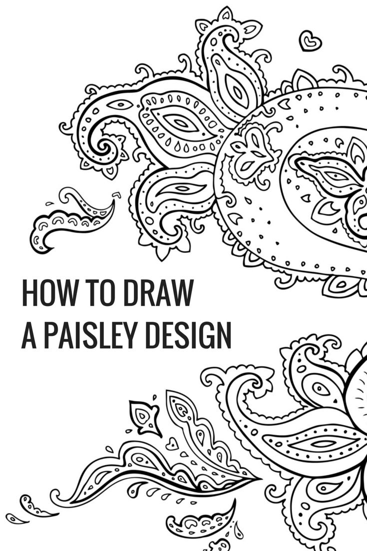 Art and Design: Yes, Even You Can Draw a Chenin Blanc Paisley Design #Protea #Wine