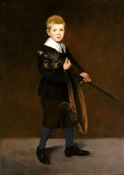 Manet - Boy With A Sword by Edouard Manet (1832 – 1883, French)