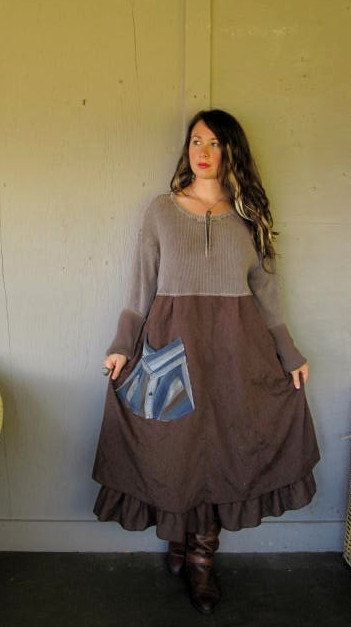 XL1X2X plus size Eco upcycled clothing by lillienoradrygoods, $69.50   now I'd totally wear this instead of the overalls :)