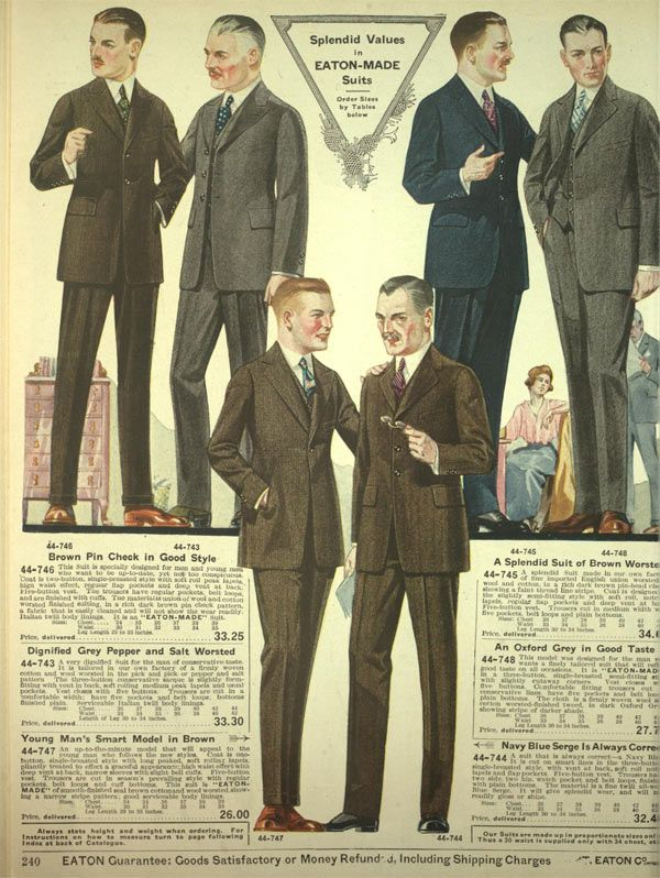 Men In The 1920s Wore Suits With Hats Into Town And