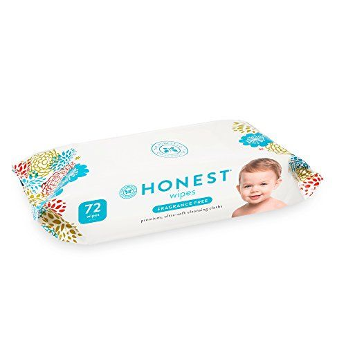 Honest Baby Wipes Fragrance Free White 72 Count