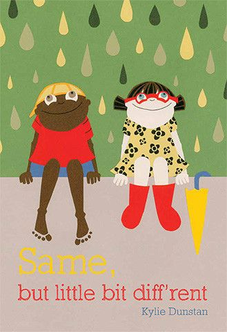 'Same, but Little Bit Diff'rent' - a #childrensbook with #words and #illustration by #KylieDunstan. When Normie travels from the Top End to visit a friend living in a #city down south, the two children discover that their lives are the same, but a little bit different.