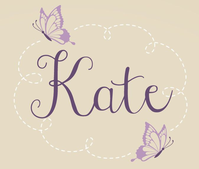 Butterfly Name Wall Decal - Butterfly Wall Decal - Butterfly Nursery Decor - Baby Girl Name Decal by TweetHeartWallArt on Etsy https://www.etsy.com/listing/165195670/butterfly-name-wall-decal-butterfly-wall