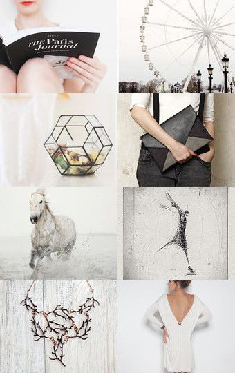 "#ArtPassionBijoux by Sara, photographic #Etsy #treasury: ""Geometric white"" by…"