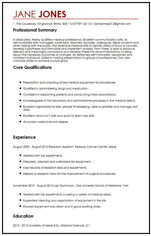 Cv Template Medical Student Cvtemplate Medical Student Template Cv Template Uk Medical Resume Template Cv Template