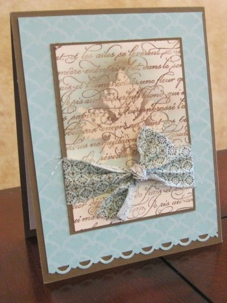 .: Embossing Resistance, Cards Colors, Beautiful Cards, Cards Ideas, Beautiful Colors, Fall Cards, Fabrics Bows, Colors Palettes, Leaf Cards