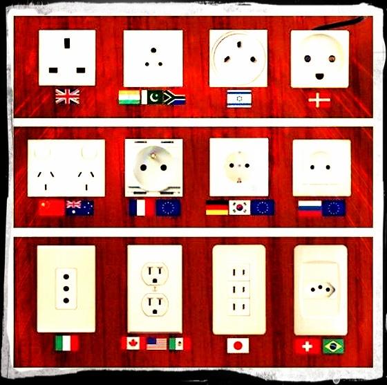 Fique atento aos tipos de plugs- tomadas ao redor do mundo e leve o adaptador correto! ;)