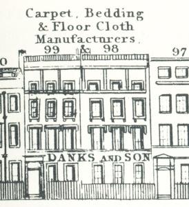 elevation 98-99 Hatton Garden: Danks and Son, carpet manufacturers