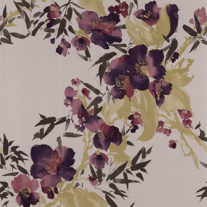 Meadow Plum Wallpaper by Graham and Brown